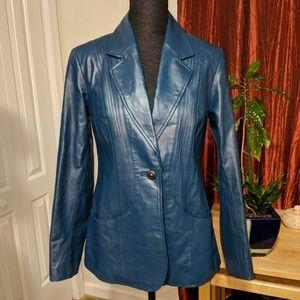 Denim & Co. Genuine leather jacket